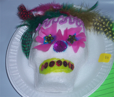 day of dead mexico skulls. Sugar skulls auctioned at an