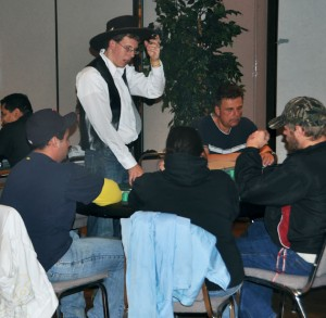 Bryan Fahey is a dealer at the Wild West Casino Night. photo by Zak Bratton