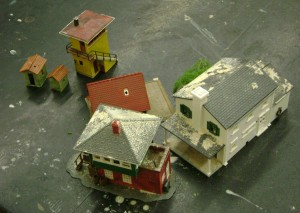 A scene from Buckabee's city model. photo by Adrian Flores