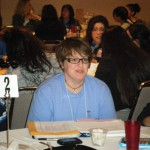Daneya Esgar, interim director of the Upward Bound program at CSU-Pueblo, served as a table coach at the Young Women's Conference.