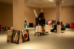 CSU-Pueblo students prepare for annual art show in 2011 ~ photo by Ye Ming