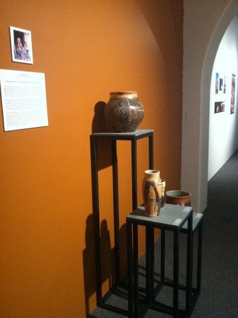 Various pieces of pottery on display at the Sangre de Cristo Art Center. Photo courtesy of Kara Mason.