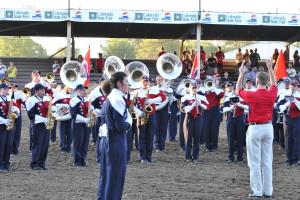 CSU-Pueblo Band playing at the Rodeo on CSU-Pueblo Day at the Colorado State Fair. Photo courtesy of Tyler Shomaker
