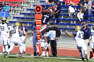 Wide receiver Kieren Duncan vs. Fort Lewis. Photo courtesy of Tyler Shomaker.