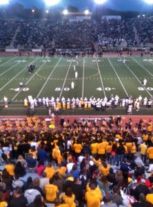 The Pueblo East Eagles and the Pueblo South Colts battle to claim the Cannon, Sept. 5, 2014