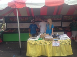 The Musso family booth at the Chili and Frijoles Festival