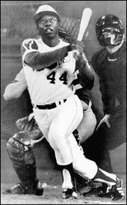 Hank Aaron's 715th home run Photo from ESPN.com