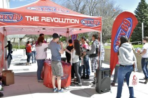 Rev89 remote broadcast on campus