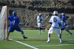 CSU-Pueblo Men's Lacrosse held a scrimmage against Johnson and Wales Saturday. Photo by Shelby Aebischer