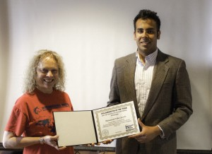 M. Talha Qureshi receives Collaborator of the Year award.