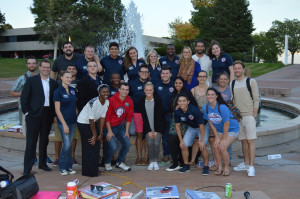 The Associated Students' Government held a meeting in front of the fountain plaza Sept. 15. | Photo by Keelan Bailey