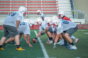The ThunderWolves prepare for the upcoming season at their first practice, held on Aug. 13. Photo by Dustin Cox.