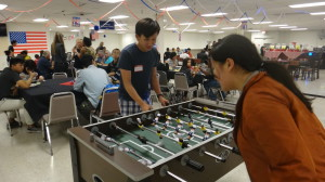 International students learned about American culture at CIP's welcome back event. Photo by Yijun Zeng.