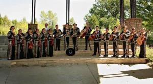 Vialapando with his mariachi group at Dolores Huerta | Photo courtesy of Basilia Gonzalez-Rodriguez.
