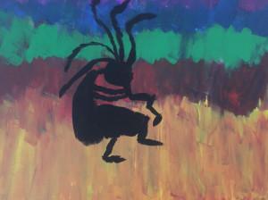 Students created Kokopelli paintings at an event Nov. 6. Photo courtesy of Ben Hultman.