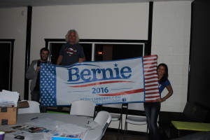 The Bernie Sanders open mic event was geared toward creatives. | Photo by Alec Herrera
