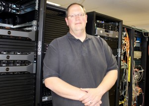 Network and Server Systems staff manager, Mark Welte | Photo courtesy of Kristal Deane