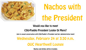 At Nachos with the President, administrators addressed a range of student concerns. | Image courtesy of csupueblo.edu