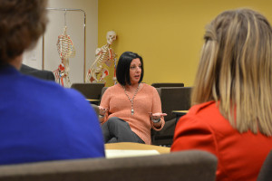 CSU-Pueblo President Lesley Di Mare discusses marijuana research at a meeting April 13. | Photo by Jason Prescott