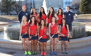 The CSU-Pueblo women's tennis team took fourth at the RMAC tournament. | Photo courtesy of gothunderwolves.com