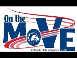 CSU-Pueblo On the Move Campaign logo