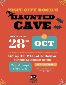 Haunted Cave flyer ~ Image courtesy of Outdoor Pursuits